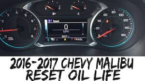 2017 Impala Check Engine Light 2016 2017 Chevy Malibu Reset Oil Life How To Impala