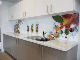 glass splashback with food image fruit cocktail in glass design
