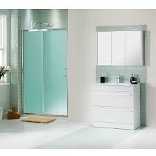 modern sliding glass shower doors. Eye-catching Sliding Shower Doors For Elegant Bathroom : Frosted Glass With White Washstand 2 Drawers Design Ideas Modern T
