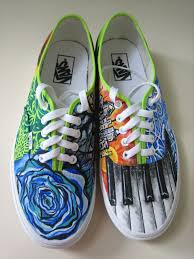 Cool Designs To Paint On Shoes I Hand Paint Shoes With Either Oil Or Acrylic These Are An