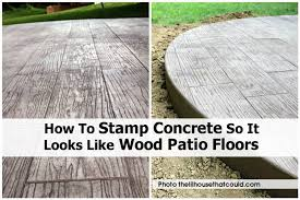 stamp concrete so it looks like wood