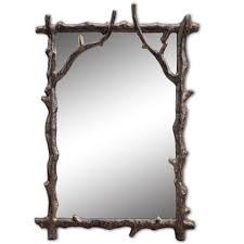 fancy mirror frame. Rustic Cabin Lodge Decor Wall Mirror Metal Frame Branch Bedroom Fancy R