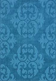 teal living room contemporary modern wool area rug handcrafted elegant damask 5 by 7 feet