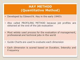 Hay Guide Chart Download Job Evaluation Methods Ppt Video Online Download