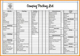 13 Camping Checklist Excel Steamtraaleren Borgenes