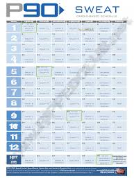 the new p90 workout schedule save in pdf format and print off the p90 calendar for your use this is the p90sweat calendar