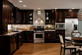 Dark Cabinets Light Countertops Backsplash Dark Kitchen Cabinets