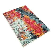 arapaho blue orange area rug studio