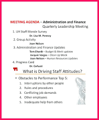 Sample Agenda On Meeting For Drivers Professional Staff Template Hr ...