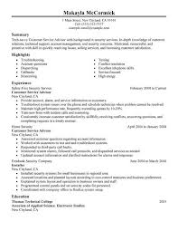Enforcement Customer Service Advisor Resume Exles Created By Pros