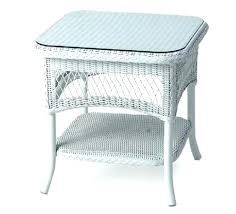 white wicker side table elegant furniture end tables collection decor round glass top other collections of wicker rattan living room furniture end table