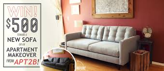 Win $500 Toward a New Sofa or Apartment Makeover from Apt2B! | Primer