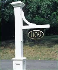 Decorative Sign Posts Woodhaven Address Sign Post Driveways Curb Appeal And House 10