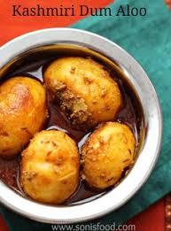 kashmiri dum aloo potatoes cooked in aromatic es an authentic kashmiri dish sonisfood