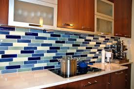 mixed blue linear glass marble stove counter kitchen tile backsplash