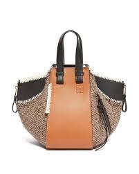 loewe brown hammock small leather tote bag