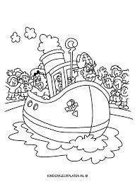 Kleurplaat Pakjesboot Stoomboot Feestdagen