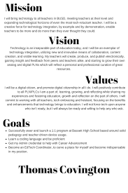 my vision statement sample chapter 6 developing and implementing a vision tom talks about