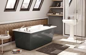maax logo maax optik f 6032 thunder gray freestanding bathtub of maax logo avenue alcove bathtub