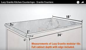 this makes for a systematized installation procedure with fewer seams than a tile countertop
