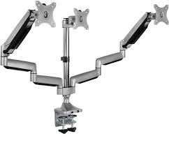 triple monitor mount height adjule 3 monitor arm desk stand for 24 27 30 32 inch led lcd displays