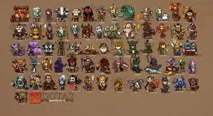 dota 2 list of heroes games fantasy wallpaper 4200x2300 169555