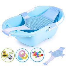 colorful baby qcbaby baby bathtub baby bathtub child bathing basin newborn kids large bath net skid blue
