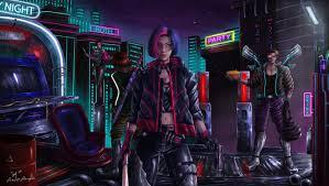 1360x768 Cyberpunk 4K Gaming Desktop ...