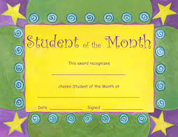 Student Of The Month Certificates Downloadable Student Of The Month
