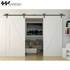 5 sliding barn door hardware aluminum rollers track kit cabinet 5 sliding barn door hardware aluminum