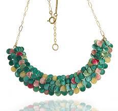 smadar edri tulip enamel handmade necklace israeli fashion