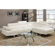 white leather sectional sofa. Beautiful Sofa Pomorie White Faux Leather Sectional Sofa Set Intended C