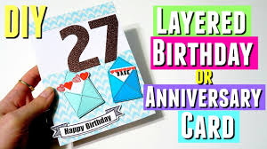 diy layered birthday card for him inspired diy birthday card using silhouette