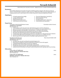 Admission Counselor Resume Resume Of General Manager Trading