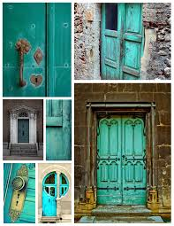 Turquoise front door Paint Colors The Soothing Appeal Of Tranquil Turquoise Painted Exteriors Portobello Road Exterior Color Inspirations The Tranquil Bold Turquoise Front