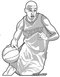11 images of stephen curry golden state warriors basketball coloring