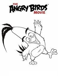 Kids N Fun Kleurplaat Angry Birds Film Chuck