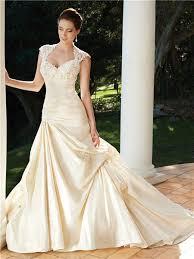 line cap sleeve chapel train backless champagne wedding dress
