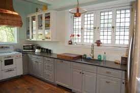 grey painted kitchen cabinetsGray Painted Kitchen Cabinets  Farmhouse  Kitchen  New York