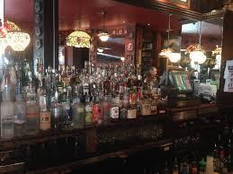 Martin's Tavern: The old wooden bar