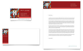 Hotel Business Card Letterhead Template Design