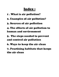 scince folio air pollution 2 index 1 what is air pollution