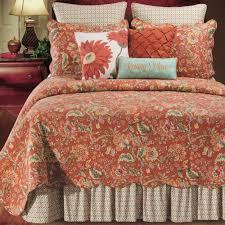Adele Jacobean Floral Rust Quilt Bedding &  Adamdwight.com