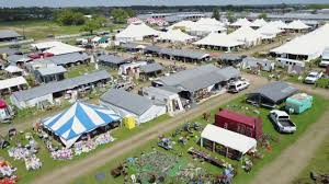 Warrenton, TX Antique Festival Aerial View (Round Top Antique Fair)