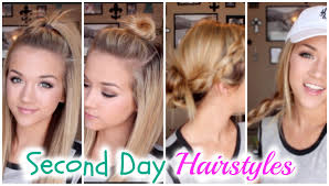Second Day Curly Hairstyles Four Hairstyles For Second Day Hair Youtube