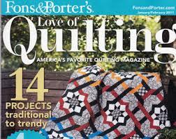 Scrappy quilt | Etsy & Fons & Porter's 'Love of Quilting' America's Favorite Quilting Magazine,  Jan/Feb Adamdwight.com