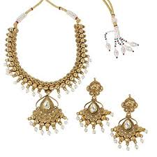 much more indian bollywood style traditional polki new gold tone necklace pendant jewelry for
