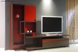 Modern Tv Units For Bedroom Furniture Browsing Gorgeous Wall Unit Design Idea With White