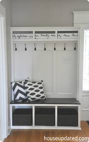Boot Bench With Coat Rack BuiltIn Mudroom Entryway System Knock Off Decor Entryway 23