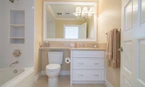custom vanities with shelf over toilet